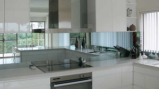 Kitchen Splashback Mirror Tiles